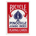 Bicycle Pinochle Jumbo Index Playing Cards Red