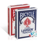 Bicycle Lo-Vision Playing Cards Red