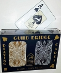GUILD Arc and Arrow Black & Gold Bridge Jumbo Index Playing Cards Free Shipping
