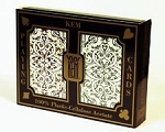 Kem Jacquard Burgundy/Green Bridge Size Jumbo Index Playing Cards Free Shipping
