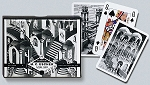 Escher Up & Down Double Deck Bridge Size Playing Cards by Piatnik