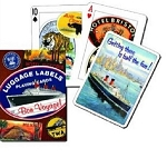 Luggage Labels single deck By Piatnik Playing Cards