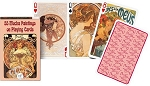 Mucha single deck By Piatnik Playing Cards