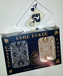 GUILD Arc and Arrow Black & Gold Poker Jumbo Index Playing Cards Free Shipping