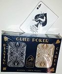 GUILD Arc and Arrow Black & Gold Poker Standard Index Playing Cards Free Shipping