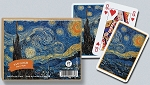 Van Gogh Starry Night Double Deck Bridge Size Playing Cards by Piatnik