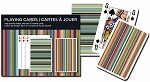 Stripes Double Deck Bridge Size Playing Cards by Piatnik