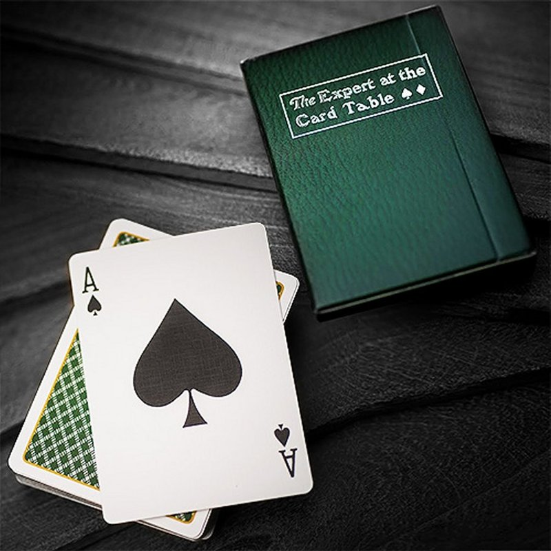 Home > Latest Playing Cards > The expert at the card table green playing  cards deck