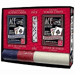 ACE Authentic Plastic Playing Cards Game Set (With Chips and Dice)