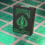 Bicycle Foil Back Emerald Playing Cards Deck