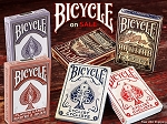 Deck Set of 6 Bicycle Playing Cards on Sale (Presidents, Cyclist)
