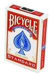 Bicycle Red Blank Back Standard Face Playing Cards Deck