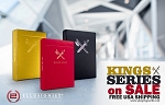 Set of 3 Colors Kings Playing Cards by Ellusionist