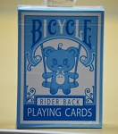 Bicycle Lovely Bear Rider Back Blue Playing Cards Deck