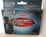 NEW JAMES BOND 007 40TH ANNIVERSARY DOUBLE DECK PLAYING CARDS IN TIN