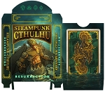 Steampunk Cthulhu Resurrection Green Playing Cards