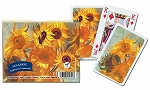 Van Gogh Sunflowers Double Deck Bridge Size Playing Cards by Piatnik
