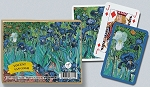 Van Gogh Irises Double Deck Bridge Size Playing Cards by Piatnik