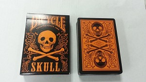 Bicycle Skull Orange Playing Cards Deck New Limited Edition