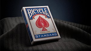 Bicycle Standard Playing Cards in Mixed Case Red/Blue(12pk)with individual hang tabs on deck