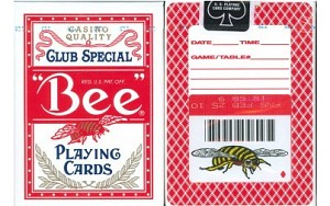 Bee Back in Red Playing Cards