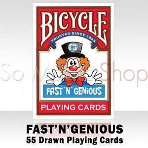 BICYCLE FAST' N' GENIOUS Playing Cards.