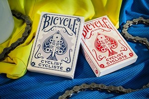 Bicycle Cyclist Red & Blue Playing Cards Set