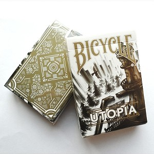 Bicycle Utopia White and Gold Playing Cards Deck