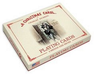 A Christmas Carol Playing Cards 2 Bridge Size Decks New