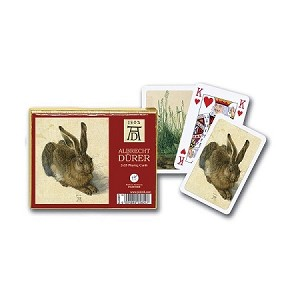 Durer Hare Double Deck Bridge Size Playing Cards by Piatnik
