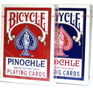 6 Decks of Bicycle Pinochle Playing Cards