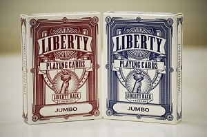 Liberty Set of 4 Playing Cards Deck Set Red & Blue Jumbo
