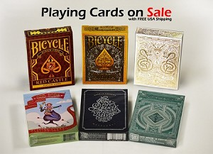 6 Decks Set playing cards on Sale (Red Castle, Bicycle Aurora)