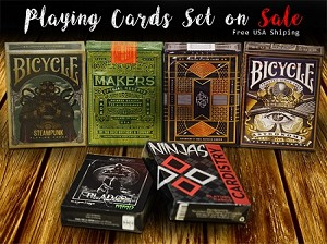 Playing cards deck set on Sale (Makers, Ninjas)
