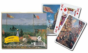 Monet Terrace Double Deck Bridge Size Playing Cards by Piatnik