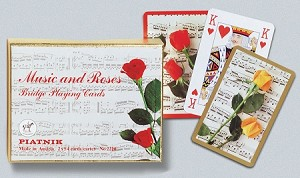 Music & Roses Double Deck Bridge Size Playing Cards by Piatnik