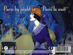 Paris by Night Double Deck Bridge Size Playing Cards by Piatnik