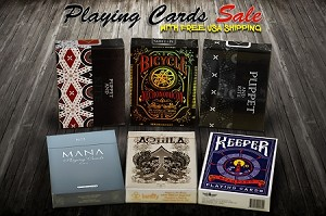 Set of 6 Playing Cards Deck Set on Sale (Aquila, Puppet & Kite)