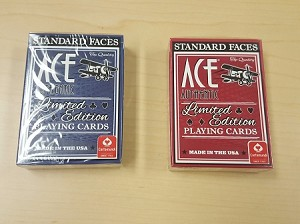 ACE Authentic Limited Edition Playing Cards Deck Red or Blue Standard Index New