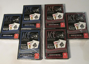 6 NEW DECKS SEALED ACE 100% PLASTIC PLAYING CARDS POKER WASHABLE CARTAMUNDI