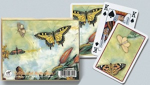 Tulips & Butterflies Double Deck Bridge Size Playing Cards by Piatnik