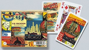 US Vacation Double Deck Bridge Size Playing Cards by Piatnik