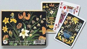 Vintage Bouquet Double Deck Bridge Size Playing Cards by Piatnik