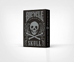 Bicycle Skull Mettalic Silver Playing Cards Deck New FREE SHIPPING