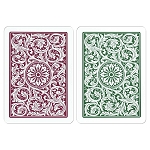 Copag Green & Burgandy W/S Playing Cards
