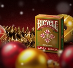 Bicycle Leaf Back Red Playing Cards Gold Edition New
