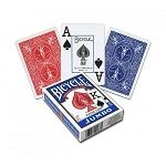 Bicycle Rider Back Jumbo Index Blue Playing Cards
