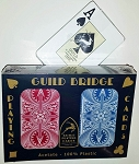 GUILD Arc and Arrow Red & Blue Bridge Jumbo Index Playing Cards Free Shipping