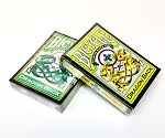 Bicycle Dragon Back 2 Deck Set Green & Yellow