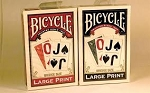 Bicycle Large Print Blue Playing Cards